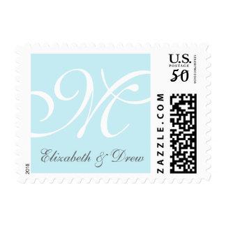 Editable Monogram Names Wedding Invitation Stamp
