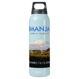 Editable Mount Kilimanjaro Climb Commemorative Insulated Water Bottle