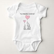Editable My Grandma Loves Me Elephants Baby Bodysuit