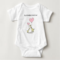 Editable My Grandpa Loves Me Giraffes Baby Bodysuit
