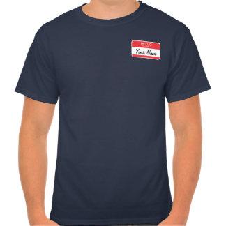 Editable Name Tag Shirt