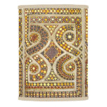 Editable Romanesque Gold Mosaic Pattern Lamp Shade