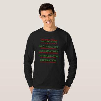 EDITABLE Sentence Types of Christmas Carols T-Shirt