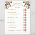 """Editable Shower Game Pink Floral Bride Groom Y/N<br><div class=""""desc"""">Romantic pink and white painted florals bridal shower game with gold text. with editable circles for &quot;bride or groom&quot; or &quot;yes or no&quot; style questions Change the title and questions to anything you need. The gorgeous painted florals are by Create the Cut. Find them on Creative Market https://crmrkt.com/7WdAX, Etsy https://www.etsy.com/shop/CreateTheCut,...</div>"""