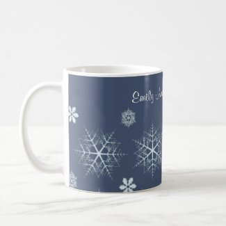 Editable Snowflake Editable Coffee Mug