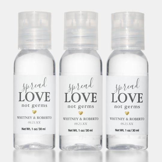 Editable Spread Love Not Germs Hand Sanitizer