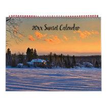 Editable Sunset Calendar