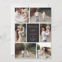 Editable Wishes Editable Color Holiday Photo Card