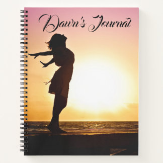 Editable Woman Dawn Sunrise Notebook
