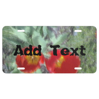 Edited Flower Photo License Plate