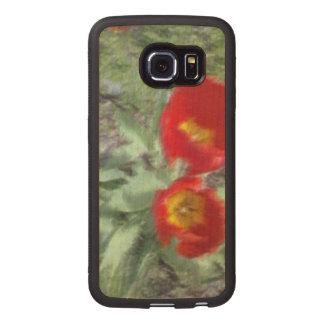 Edited Flower Photo Wood Phone Case