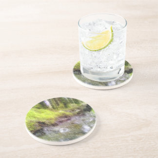 Edited forest photo drink coaster