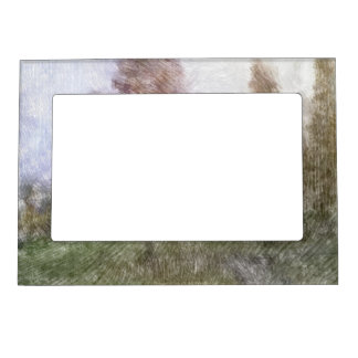 Edited forest photo magnetic picture frame