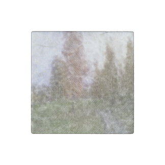 Edited forest photo stone magnet