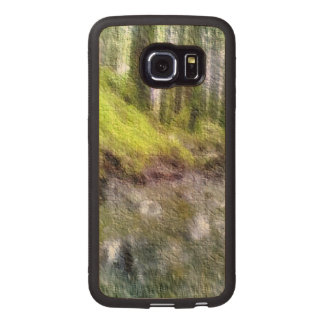 Edited forest photo wood phone case