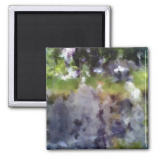 edited photo nature and sheep 2 inch square magnet