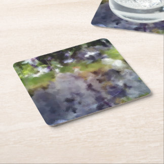 edited photo nature and sheep square paper coaster