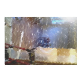 edited photo of a room laminated place mat