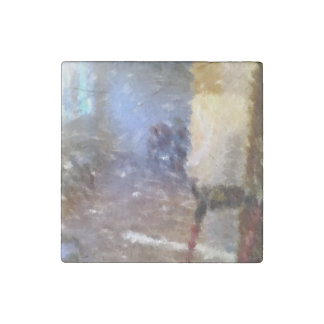 edited photo of a room stone magnet