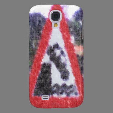 Edited photo of sign samsung galaxy s4 cover