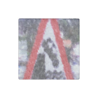 Edited photo of sign stone magnet