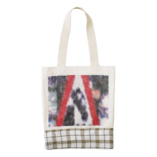Edited photo of sign zazzle HEART tote bag