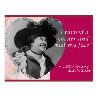 Edith Bolling Galt - Fate Postcard