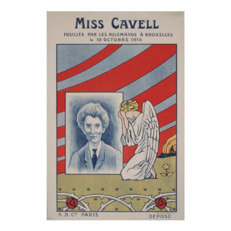 Edith Cavell executed by the Germans 1915 Print
