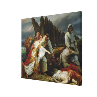 Edith Finding the Body of Harold, 1828 Canvas Print