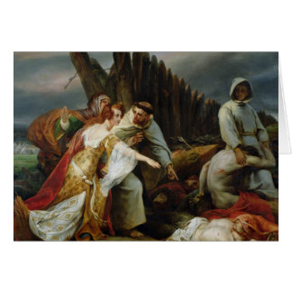 Edith Finding the Body of Harold, 1828 Card