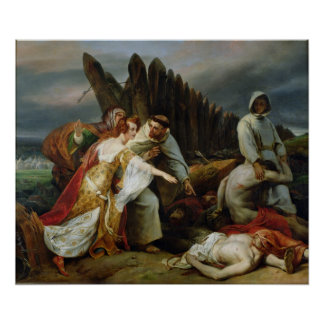 Edith Finding the Body of Harold, 1828 Poster
