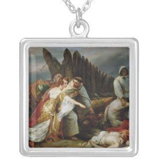 Edith Finding the Body of Harold, 1828 Silver Plated Necklace