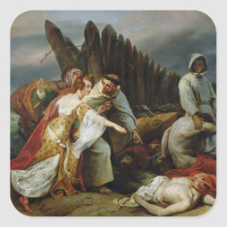 Edith Finding the Body of Harold, 1828 Square Sticker