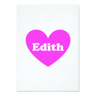 Edith 5x7 Paper Invitation Card