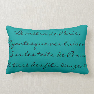 Edith Piaf Lyrics French Elegant Classic Paris Lumbar Pillow