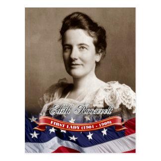 Edith Roosevelt primera señora de los E E U U Postales