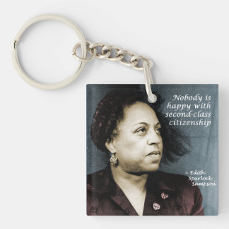 Edith Sampson: African-American citizenship Double-Sided Square Acrylic Keychain