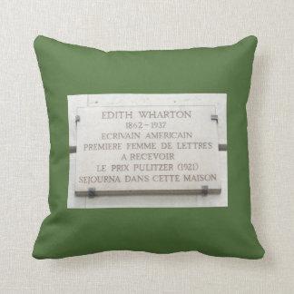 Edith Wharton 1st Woman Puliltzer Winner in Paris Throw Pillow