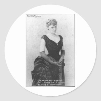 """Edith Wharton """"Spreading Light"""" Quote Gifts & Card Classic Round Sticker"""
