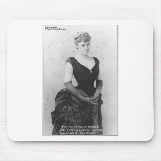 "Edith Wharton ""Spreading Light"" Quote Gifts & Card Mouse Pad"