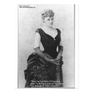 Edith Wharton Spreading Light Quote Gifts Card Postcard