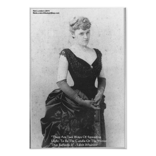 "Edith Wharton ""Spreading Light"" Quote Posters Print"