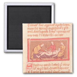 edition of 'Book of Surgery' by Rogier de Salerne 2 Inch Square Magnet