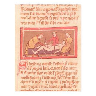 edition of 'Book of Surgery' by Rogier de Salerne Postcard