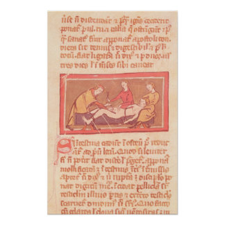 edition of 'Book of Surgery' by Rogier de Salerne Poster