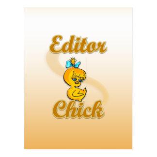 Editor Chick Postcard