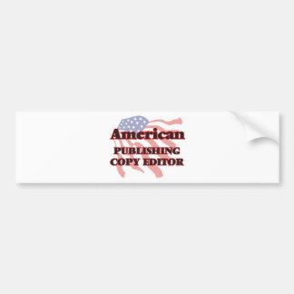 Editor de publicación americano pegatina para auto