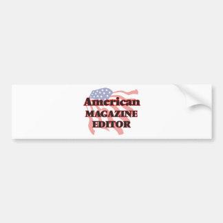 Editor de revista americano pegatina para auto