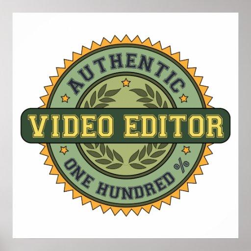 Editor de vídeo auténtico poster