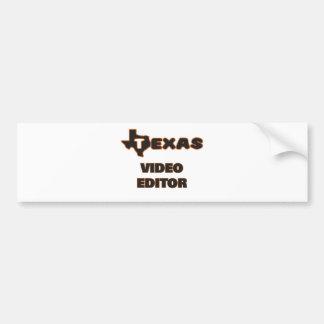Editor de vídeo de Tejas Pegatina Para Auto